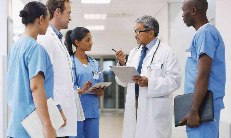 medical professionals in a medical environment