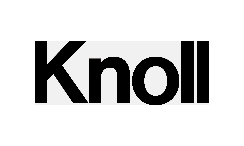 Knoll logo in black color