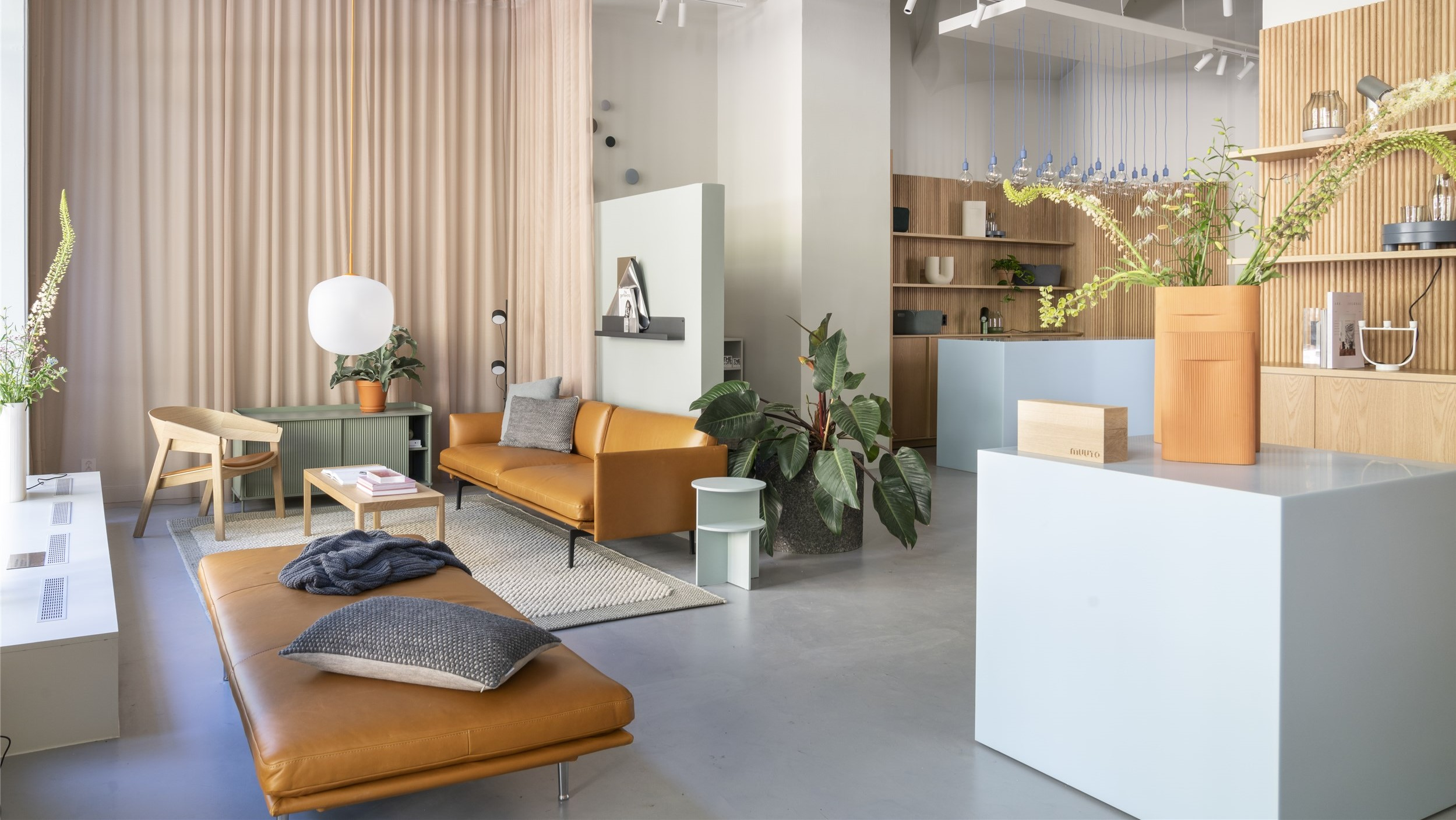bright and airy office with lounge furniture