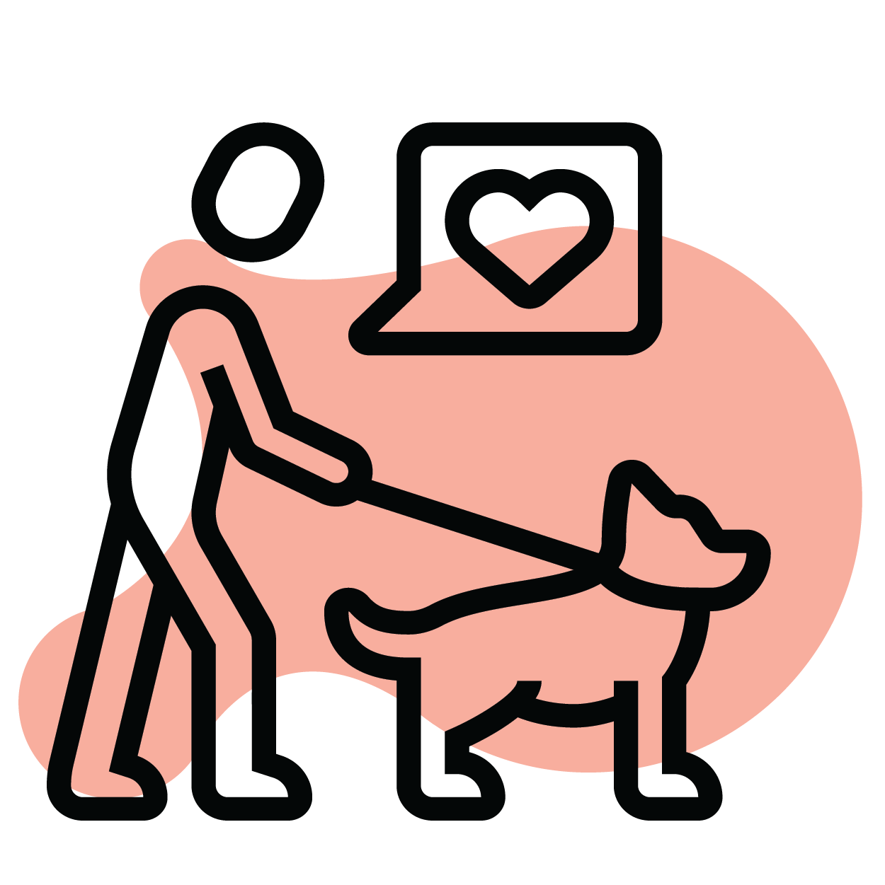 Icon of pet and person