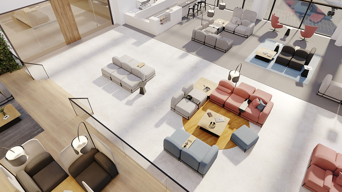 open space with lounge furniture