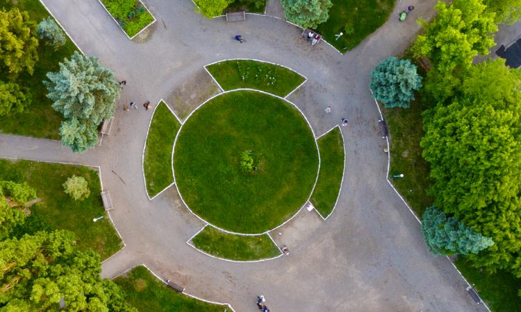 Grass roundabout